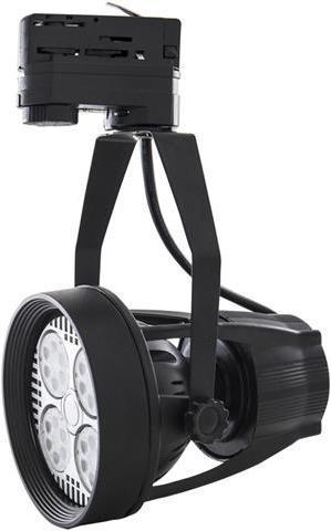 Čierne 3 Fázové lištové svietidlo E27 35W teplá biela